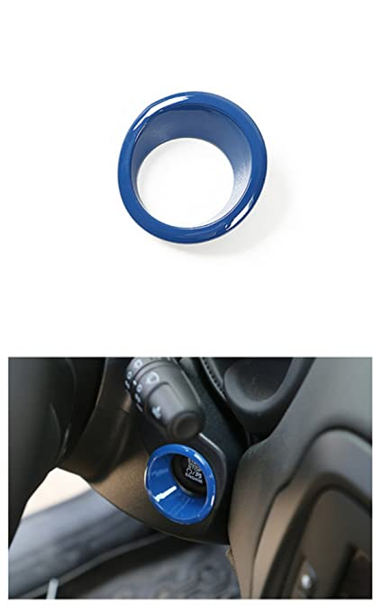 Car Electronics & Accessories Dwindish Red ABS Car Engine Start Stop Sticker Ignition Key Ring Switch Cover for Jeep Renegade 2015 Up Compass 2017