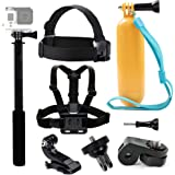 Tekcam Accessory Bundle kit Chest Harness Head strap Mount galleggiante impugnatura selfie stick per Yi 4 K Vivitar Akaso EK7000 Crosstour 4 K Action Camera Sony fotocamera digitale
