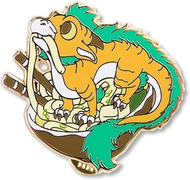 Trans Noodle Dragon Enamel Pin