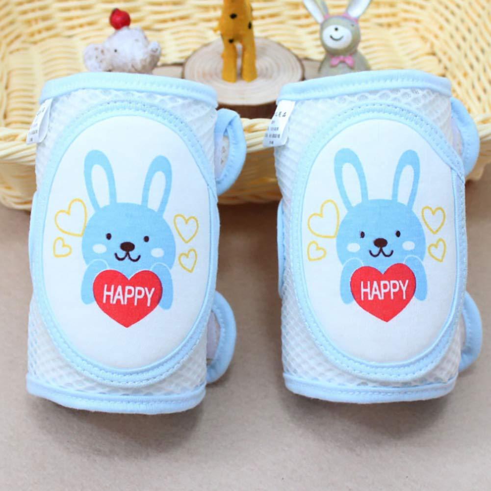 SELUXU 2Pcs Baby Crawling Knee Pads Toddler Anti-Slip Elbow Pads Dual Purpose Safety Protection