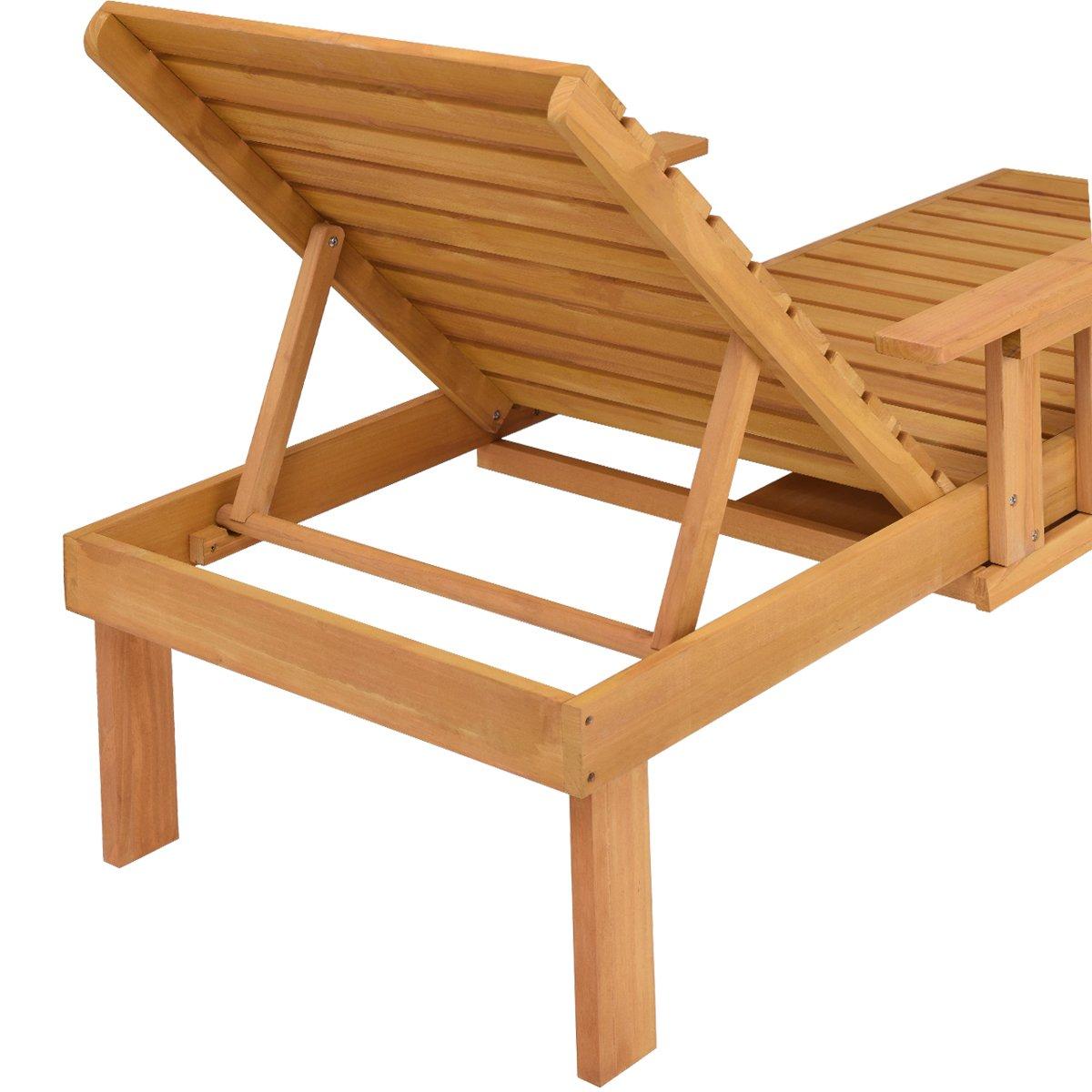 Costway Sonnenliege Gartenliege Relaxliege Liegestuhl Strandliege