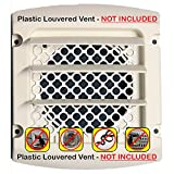 vent bird guard - Dryer Vent Bird Guard -Dryer Vent Bird Stop - Dryer Vent Grill - Pest Guard - Stop Bird Nesting In Dryer Exhaust Vent Pipes - Louver Vent Hood Cover Guard - 2/pkg