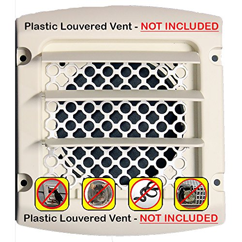 d -Dryer Vent Bird Stop - Dryer Vent Grill - Pest Guard - Stop Bird Nesting In Dryer Exhaust Vent Pipes - Louver Vent Hood Cover Guard - 2/pkg (Grill Guard Installation)