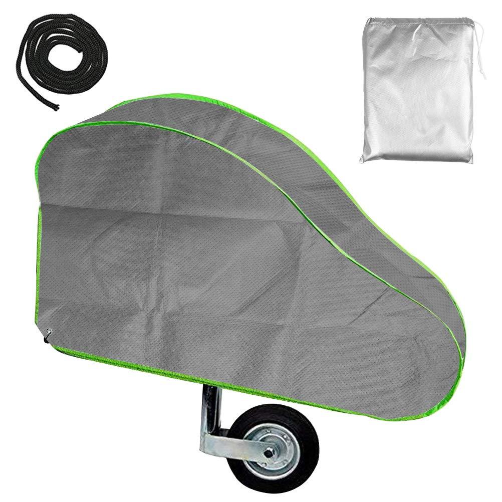 QLOUNI Protection Attelage Remorque Caravane,Couvertures de Remorque de Camping 4 Couches en Tissu Imperm/éables//Respirantes//Durables Non Tiss/é avec sac de rangement
