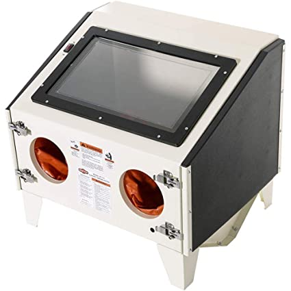 shop fox m1114 benchtop sandblaster amazon com rh amazon com bench top sandblast cabinet bench top sandblast cabinet