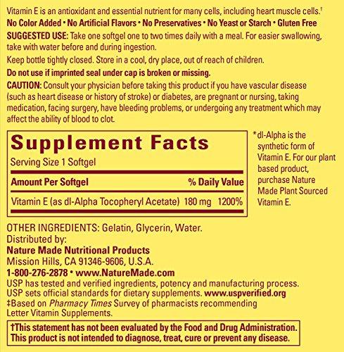 Nature Made Vitamin E 400 IU Softgels, 300 ct by Nature Made (Image #1)