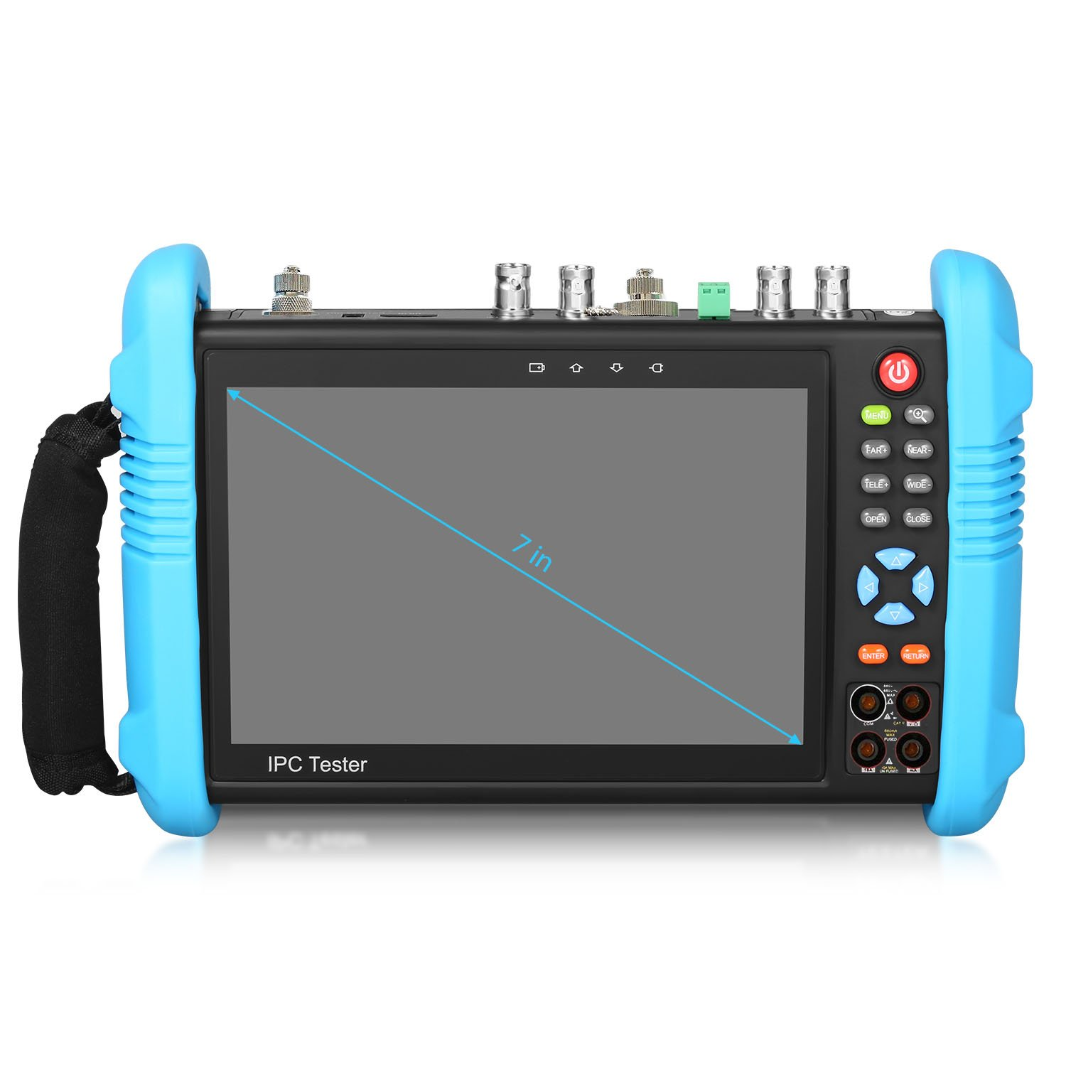 SGEF 7 inch All in One IPS Touch Screen IP Camera Tester Security CCTV Tester Monitor with SDI/TVI/AHD/CVI/POE/WIFI/4K H.265/HDMI in&Out/RJ45-TDR/OPM/VFL 9800MOTVADHS by SGEF (Image #3)