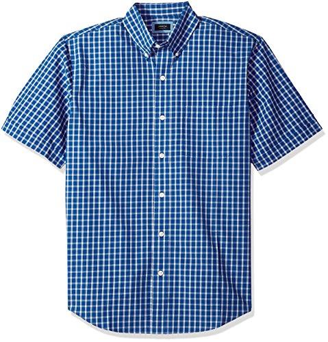 Arrow Men's Big and Tall Hamilton Poplin Short Sleeve Button Down Shirt, Blue Azalia, X-Large