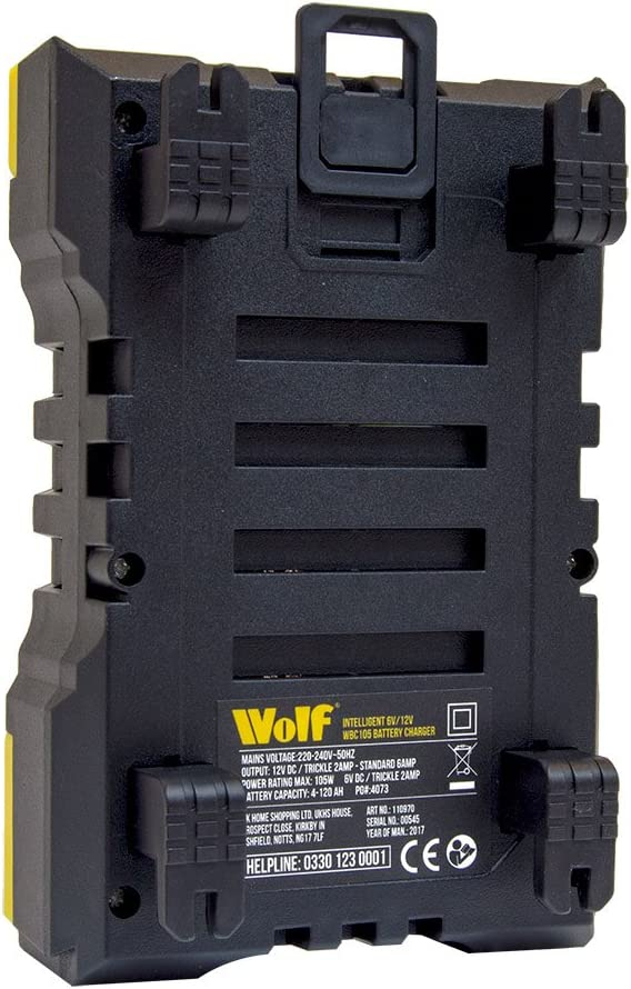 Wolf Intelligent 2A//10A 6v /& 12v Battery Charger WBC180
