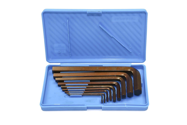 Taparia KM-9V Steel Metric Allen Key Set (Black Finish, Box Packing, Pack of 9) product image