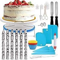 Decdeal CakeDecor Stainless Steel Cake Decorating Supplies Cake Turntable 106PCS/Set DIY Cream Tools