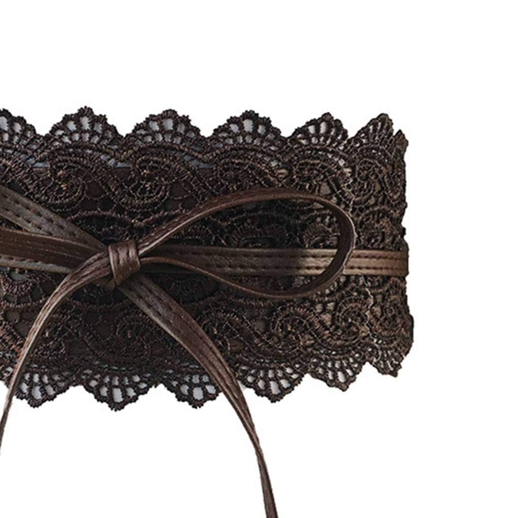 056efd0685b Uzinb Large Dentelle Corset Ceinture Femme Tie Auto Cinch Waistband  Ceintures pour Femmes Robe de mariée Taille Band  Amazon.fr  Cuisine    Maison