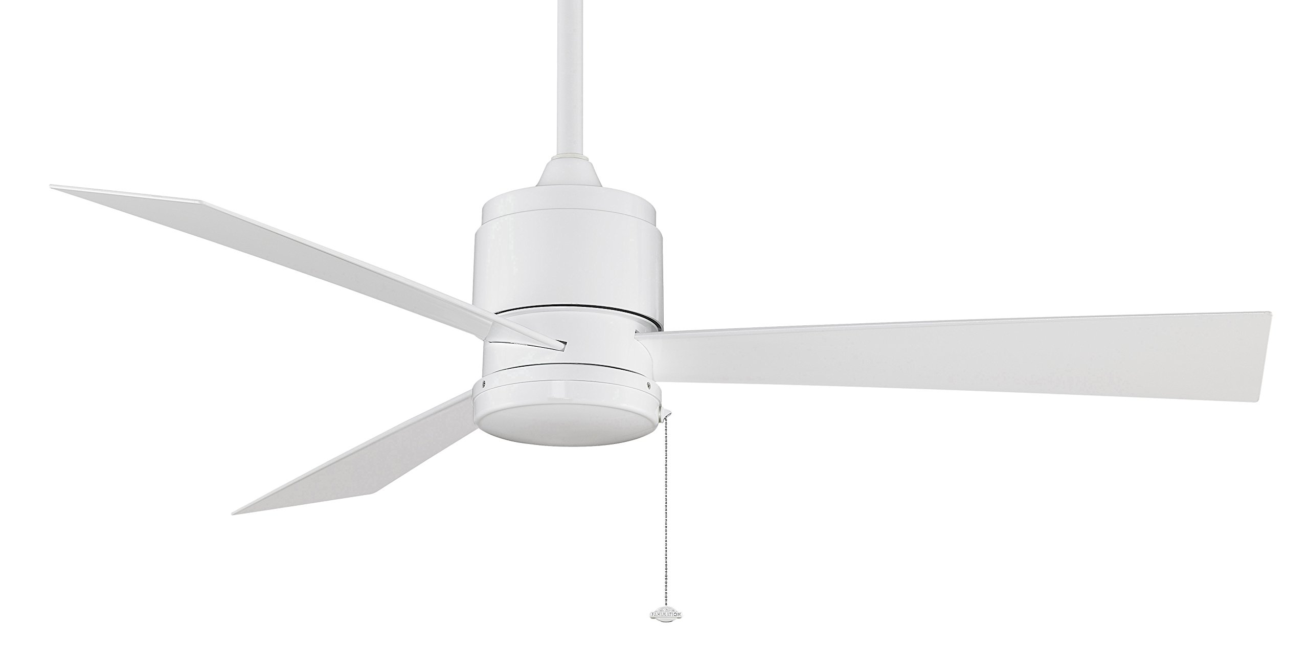 Fanimation Zonix Wet - 52 inch - White with White Blades and Pull-Chain - 220v - FP4640WH-220