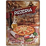 Nostalgic-Art Plaque décorative Pizzeria La Vera 30 x 40 cm