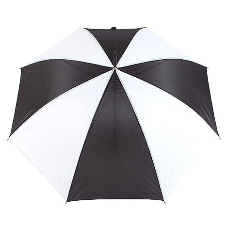 uniqueen Stick Transparente de cúpula de paraguas Ultralight Mujer Hombre Fuerte Sombrilla Viaje Blanco/Negro
