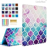 iPad Mini Case - LittleMax(TM) Synthetic Leather Auto Wake/Sleep Stand Case [Card Holder] Flip Folio Wallet Case Cover for iPad Mini 3/2/1 [Free Cleaning Cloth,Stylus Pen]--#1 Colorful Circles