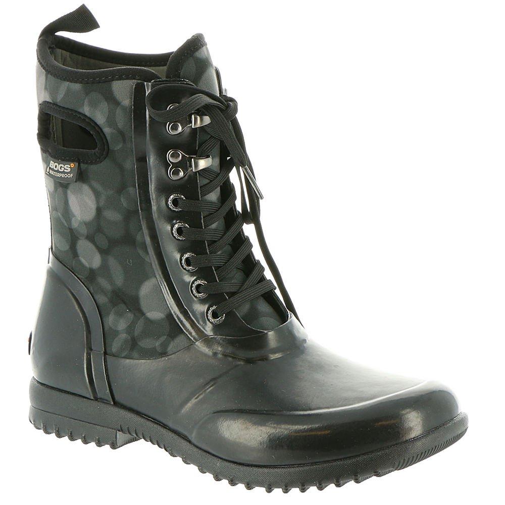 Bogs Women's Sidney Lace Rain Snow Boot,Black/Multi,8 M US