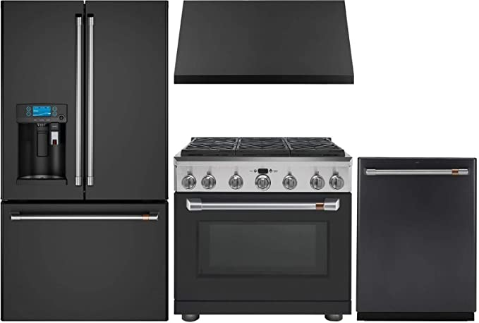 Amazon.com: GE Cafe 4 Piece Kitchen Package with CYE22UP3MD1 ...