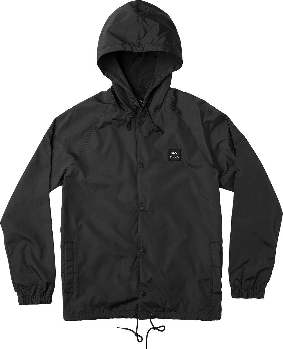RVCA Men's Va Hooded Coach Jacket, Black, M