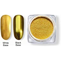Coscelia Chrome Mirror Powder Nail Glitter Powder Gold Silver Shinning Magic Effect Pigment Dust Nail Art Manicure 1g/pot #066