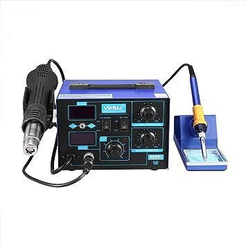 Estación de soldadura de aire caliente 862D+ Estación de soldadura digital Pistola de aire caliente 2 en 1 SMD Rework Solder Soldering Station estación de ...