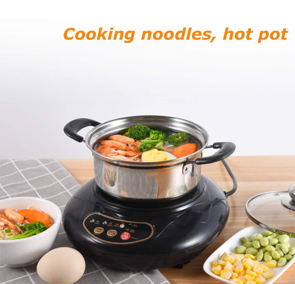SAWBJSU Mini Cuisini/ère /à Induction M/énage Banc Petit br/ûleur Plaque chauffante 1000W bouillies Hot Pot Boiled th/é infus/é caf/é Cuisson Nouilles