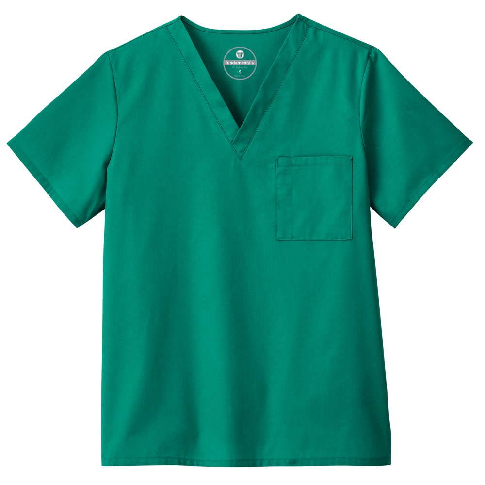 Trust Your Journey F3 Fundamentals by White Swan Unisex V-Neck Solid Scrub Top XXXXXX-Large Hunter Green
