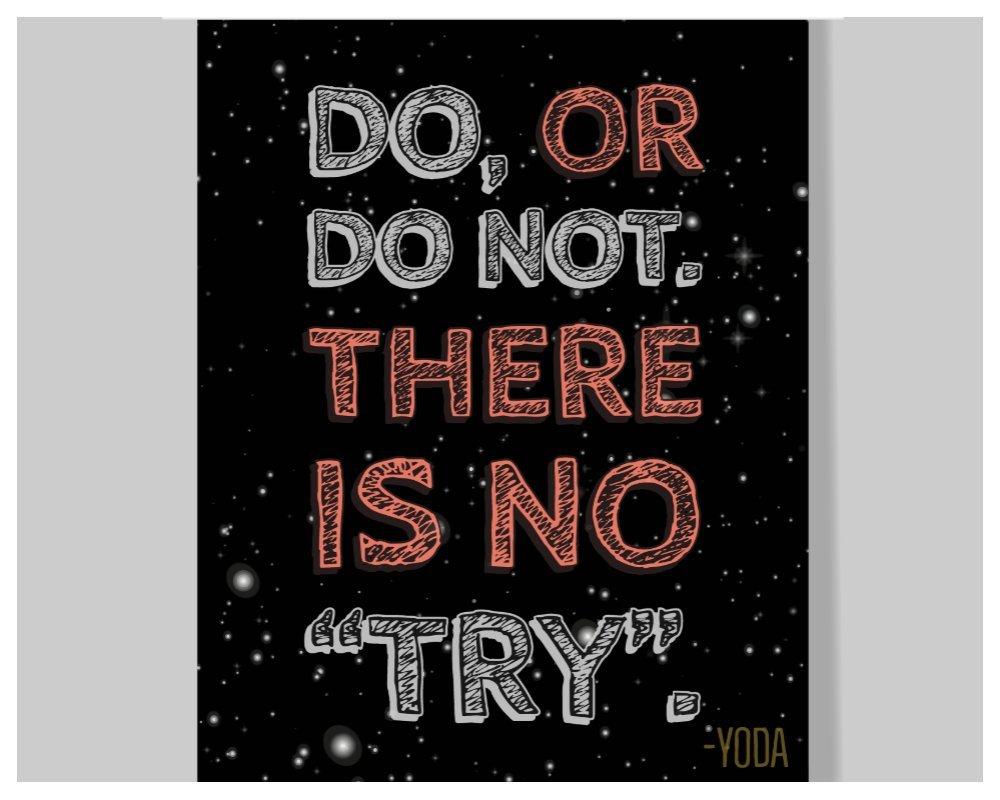 Amazon.com: Yoda Quote Poster - 16 x 20 – Motivational ...