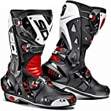 SIDI VORTICE BLACK/RED/WHITE MOTORCYCLE SPORTS RACE BOOTS + FREE SOCKS new EC 47