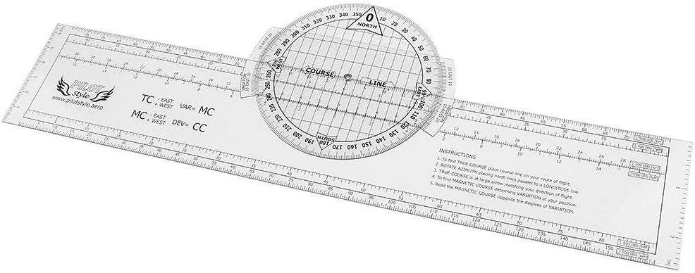 Tubayia 33,5 x 6 cm Rotación Plotter Nautische/Estatuto Distancia Regla para Flight Training: Amazon.es: Bricolaje y herramientas