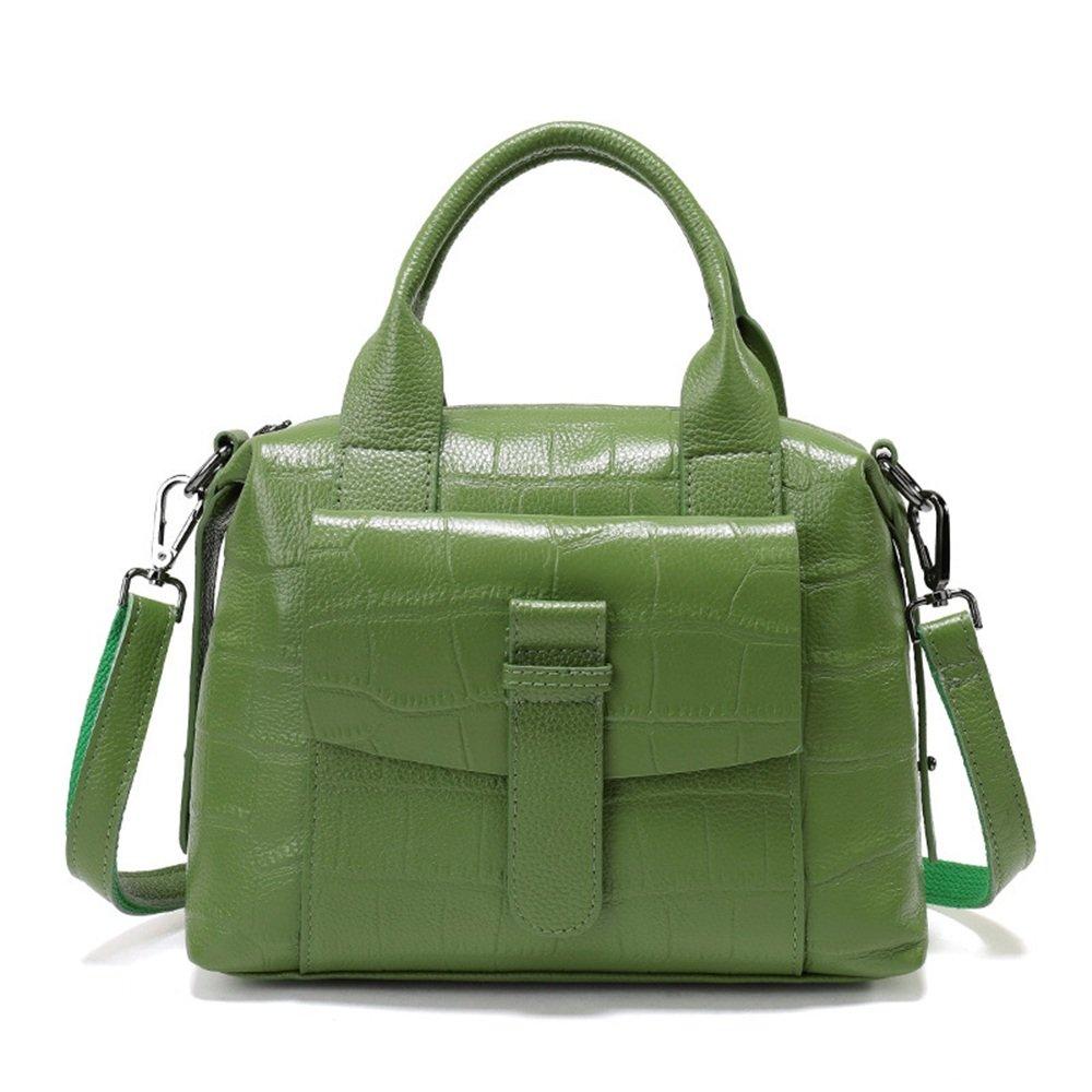 女性のハンドバッグシンプルワイルドレザートートバッグショルダー対角通勤バッグファッション クロスボディバッグガールズメッセンジャーバッグ (色 : 緑) B07QBYLDWS 緑