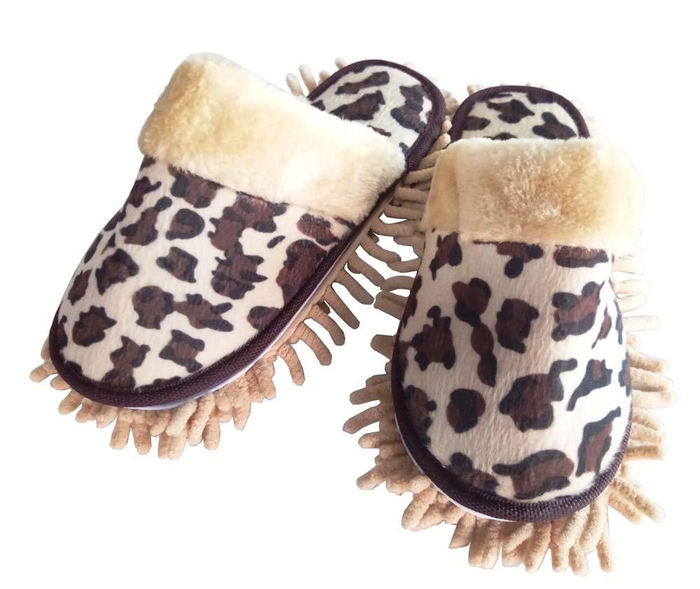 [Leopard] Kreative Nützliche Mop Hausschuhe Boden Reinigung Hausschuhe Blancho Bedding