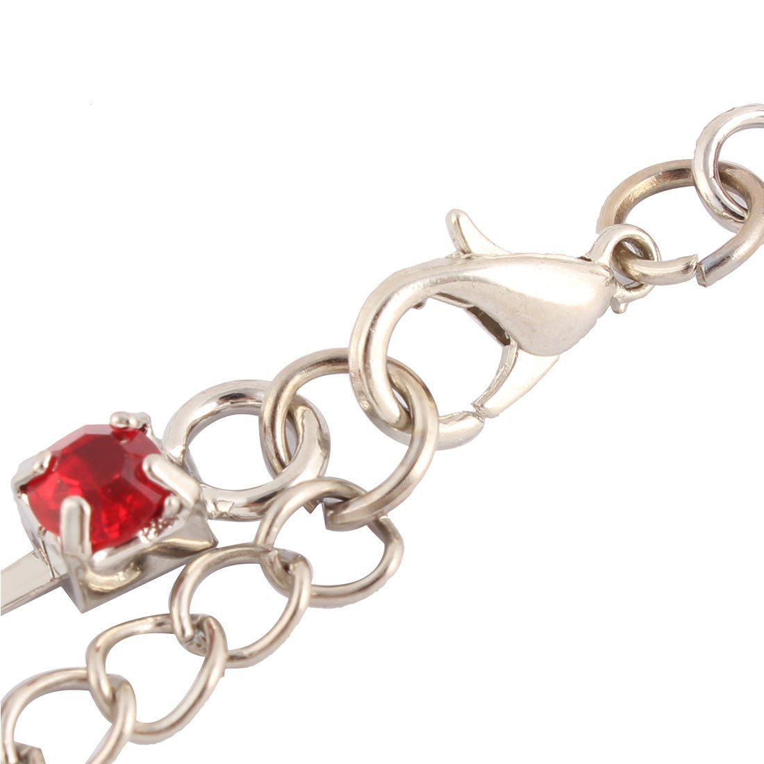 Amazon.com : eDealMax Pata del perro del Partido del Rhinestone de la chispa de Metal pendientes de la pulsera Adorno Para mascotas Collar Rojo : Pet ...