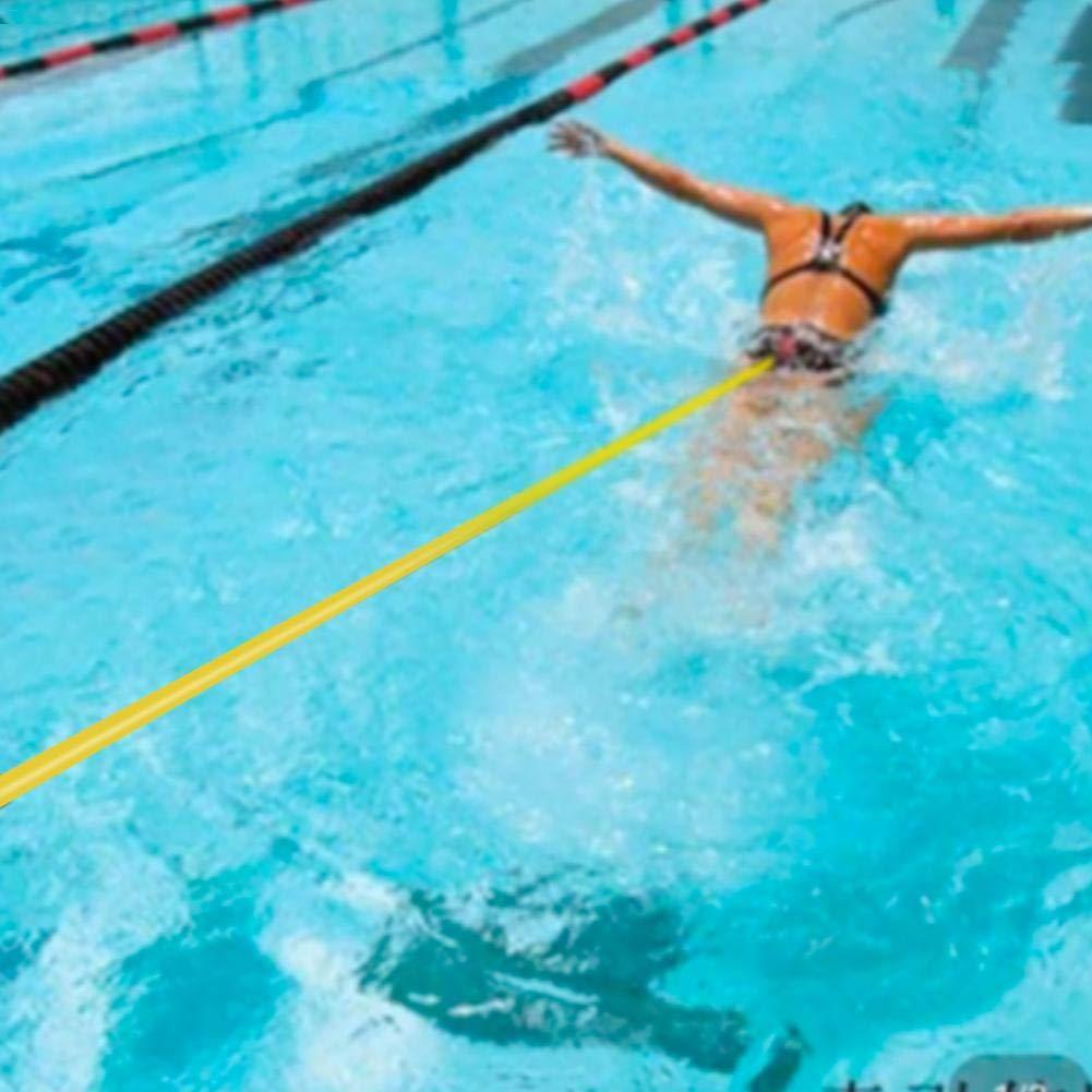 waterfail Cintur/ón de Entrenamiento Equipo de nataci/ón Cuerda el/ástica Conjunto de cintur/ón de Entrenamiento de nataci/ón Equipo de Entrenamiento de Fuerza de Resistencia de nataci/ón