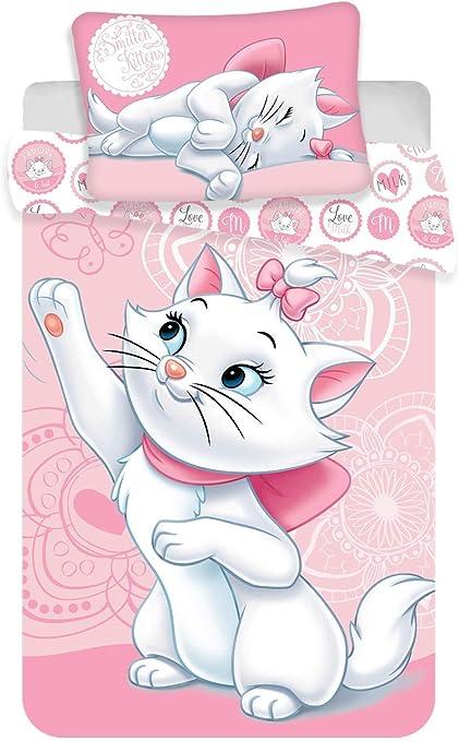 Marie Cat Bedding Set for Babies 100 x 135 cm Cotton Pink