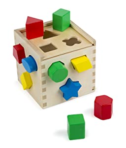 Melissa & Doug Shape Sorting Cube - Best toys for 4 year olds