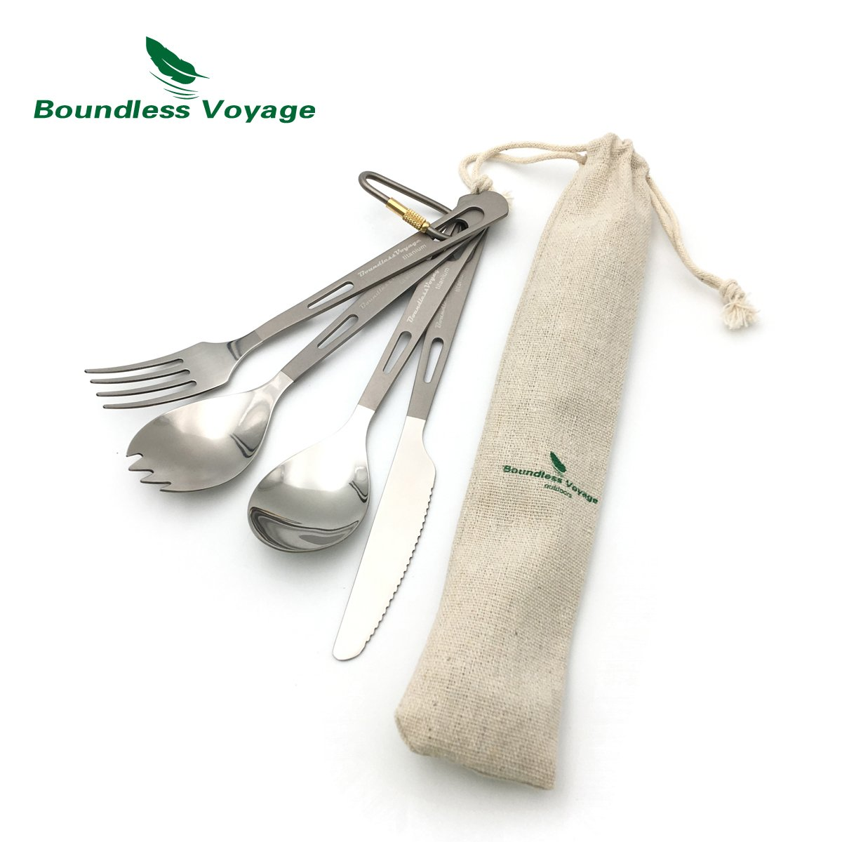 Boundless Voyage Titanium Spoon Dinner Soup Spoon Picnic Outdoor Flatware