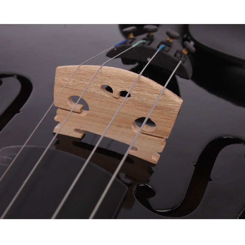 Lovinland 4/4 Acoustic Violin Beginner Violin Full Size with Case Bow Rosin Black by Lovinland (Image #6)