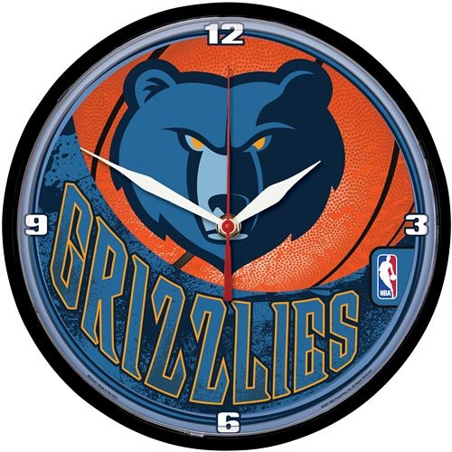 NBA Memphis Grizzlies Round Wall Clock, 12.75