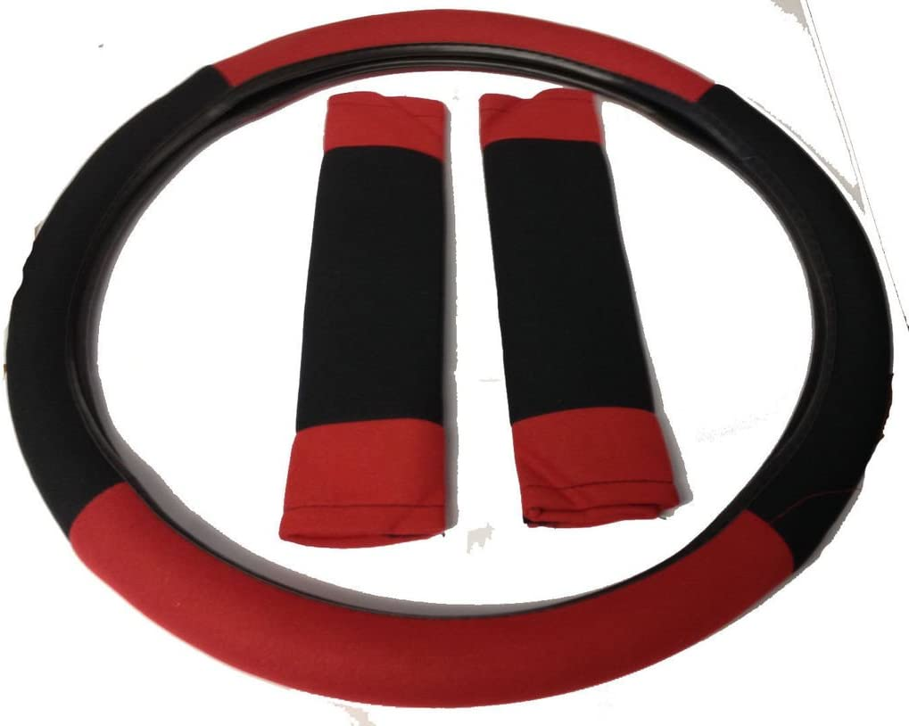 Wheels N Bits Opel Vauxhall Astra J H RED /& BLACK Universal PU Leather Type Car Seat Covers Full Set