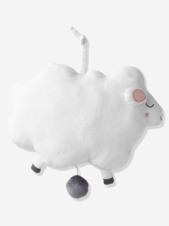 VERTBAUDET Doudou musical mouton Blanc TU