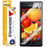[3-PACK] DeltaShield BodyArmor - Huawei Ascend P1 Screen Protector - Premium HD Ultra-Clear Cover Shield with Lifetime Warranty Replacements - Anti-Bubble & Anti-Fingerprint Military-Grade Film