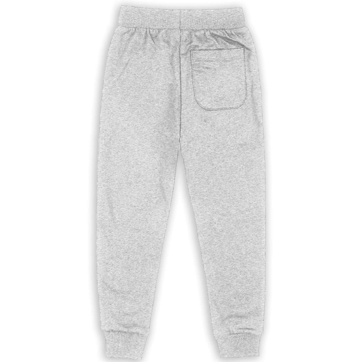 Xinding Boys Fashion Training Sweatpants Text Eat Sleep Basketball Adjustable Waist Pants with Pocket