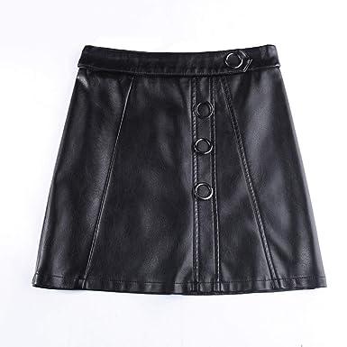 E-Girl E6833 - Falda de Piel sintética para Mujer Negro 40: Amazon ...