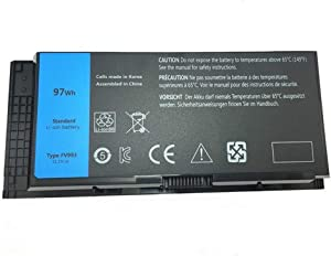 SERNN FV993 Replacement Laptop Battery (11.1V 97WH) for Dell Precision M4600 M4700 M4800 M6600 M6700 M6800 FJJ4W 9-Cell