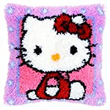 Vervaco Hello Kitty Latch Hook Cushion, Multi-Colour