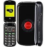 """""""Celular DL YC130 Preto - Tela 2.4, Dual Chip, Câmera, Rádio FM, MP3 e Exclusiva Função SOS"""""""