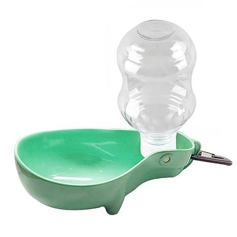 showhash portátil mascota perro dispensador Botella de agua plegable perro Bowl mascotas dispensador de agua potable
