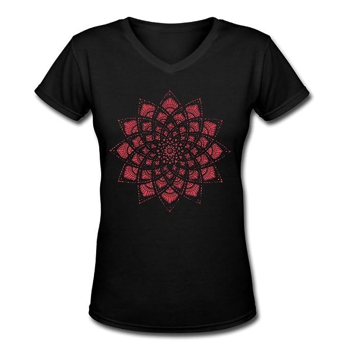 size 40 81ec1 9255f Mandala stop335 ragazze collo Mandala Camicie 100% cotone a ...