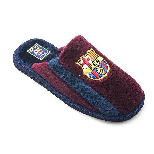 2bea7e60ab0 Zapatillas FC Barcelona de Casa Granate Banda Azul - Nº 43: Amazon.es: Zapatos  y complementos